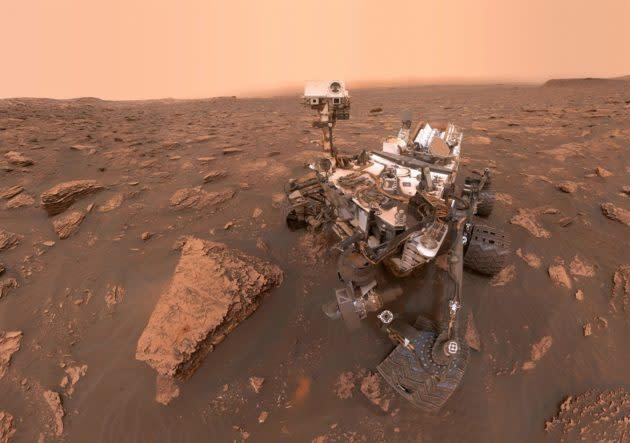 NASA's Curiosity rover took this selfie in June 2018 by capturing a series of pictures with a camera mounted on its robotic arm. (NASA / JPL-Caltech Photo)
