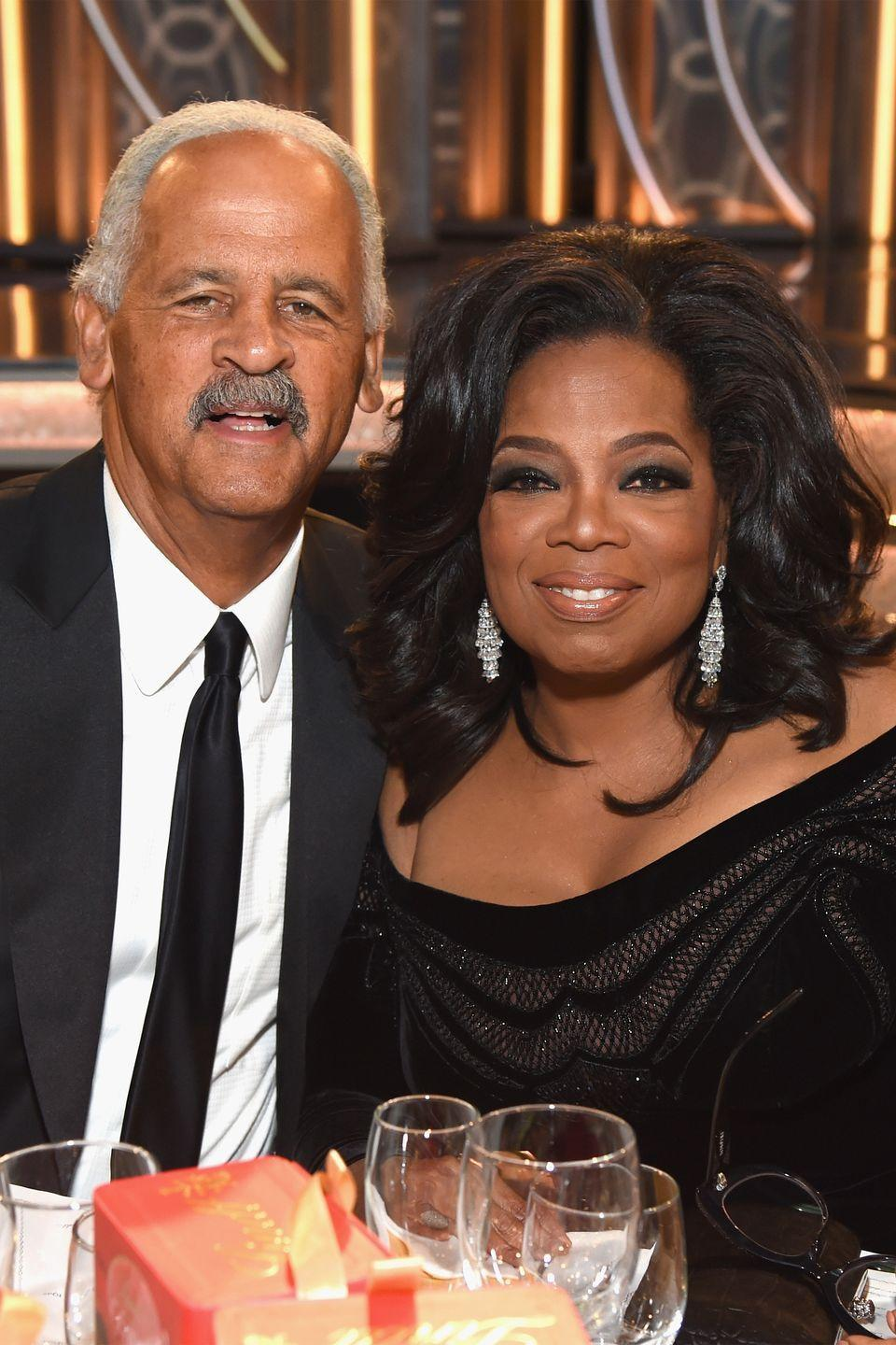 "<p>Oprah Winfrey and her long-time partner Stedman Graham have <a href=""https://www.harpersbazaar.com/celebrity/latest/a14843034/oprah-winfrey-stedman-graham-relationship-timeline/"" rel=""nofollow noopener"" target=""_blank"" data-ylk=""slk:been together"" class=""link rapid-noclick-resp"">been together</a> since her namesake television show debuted in 1986. Nearly 33 years later, the two are still together and more in love than ever. Although they <a href=""https://people.com/archive/cover-story-her-man-stedman-vol-38-no-21/"" rel=""nofollow noopener"" target=""_blank"" data-ylk=""slk:were engaged"" class=""link rapid-noclick-resp"">were engaged</a> in 1992, the two never officially married. However, heir long-term partnership is clearly working for them to last longer than many Hollywood marriages.</p><p>In a 2015 <a href=""https://www.youtube.com/watch?v=4Kkmvy9Pv0k"" rel=""nofollow noopener"" target=""_blank"" data-ylk=""slk:segment"" class=""link rapid-noclick-resp"">segment</a> that aired on the Own network, Stedman shared his feelings about being there for his other half. ""I want her to succeed and be as successful as she possibly can, so I encourage that,"" he said. </p>"