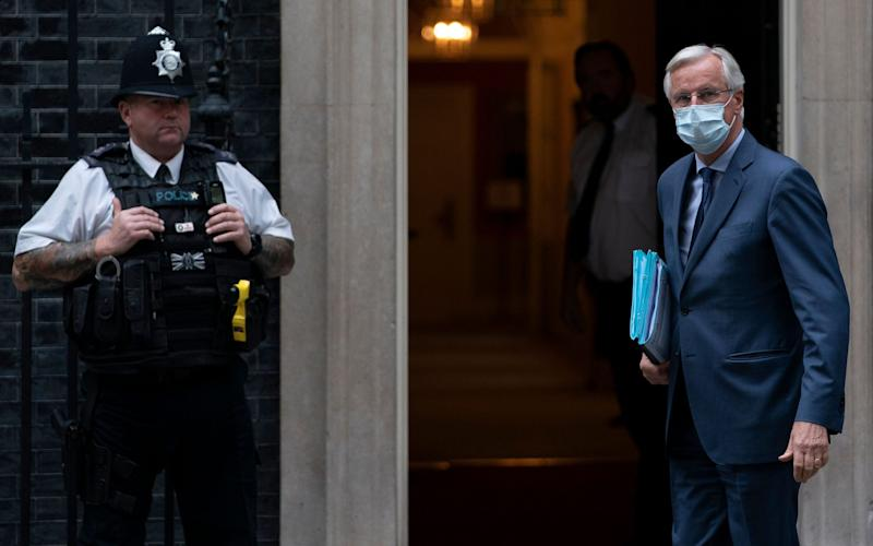 Michel Barnier, pictured arriving at Downing Street in July - Will Oliver/EPA-EFE