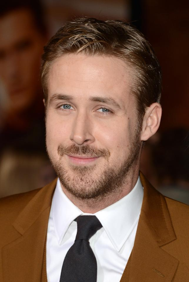 HOLLYWOOD, CA - JANUARY 07:  Actor Ryan Gosling arrives at Warner Bros. Pictures' 'Gangster Squad' premiere at Grauman's Chinese Theatre on January 7, 2013 in Hollywood, California.  (Photo by Jason Merritt/Getty Images)