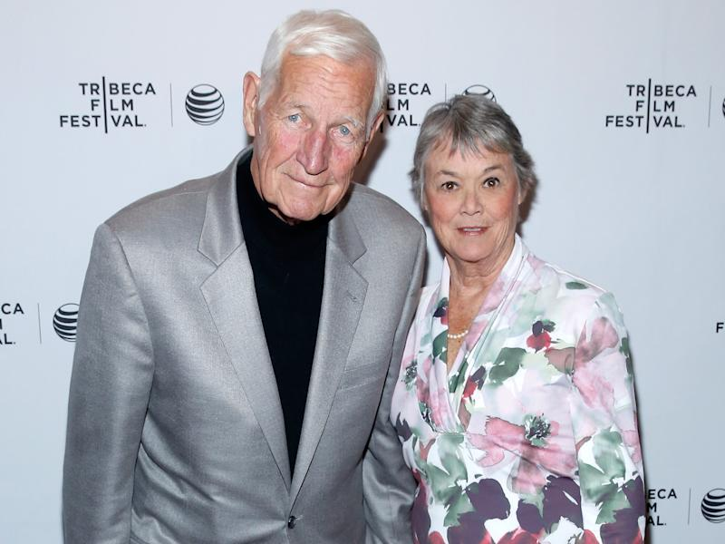 John and Bonnie Raines attend the '1971' documentary premiere in New York in 2014: Getty