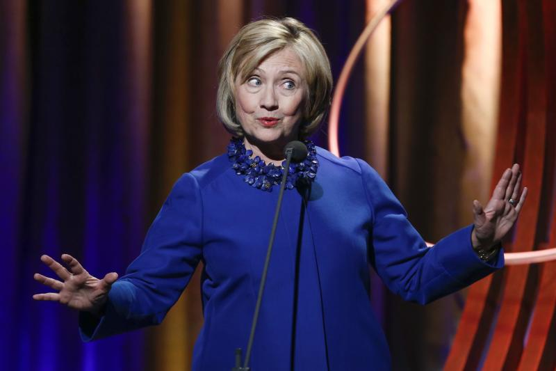 Former U.S. Secretary of State Clinton speaks during the Clinton Global Citizens awards ceremony for the 2014 CGI in New York