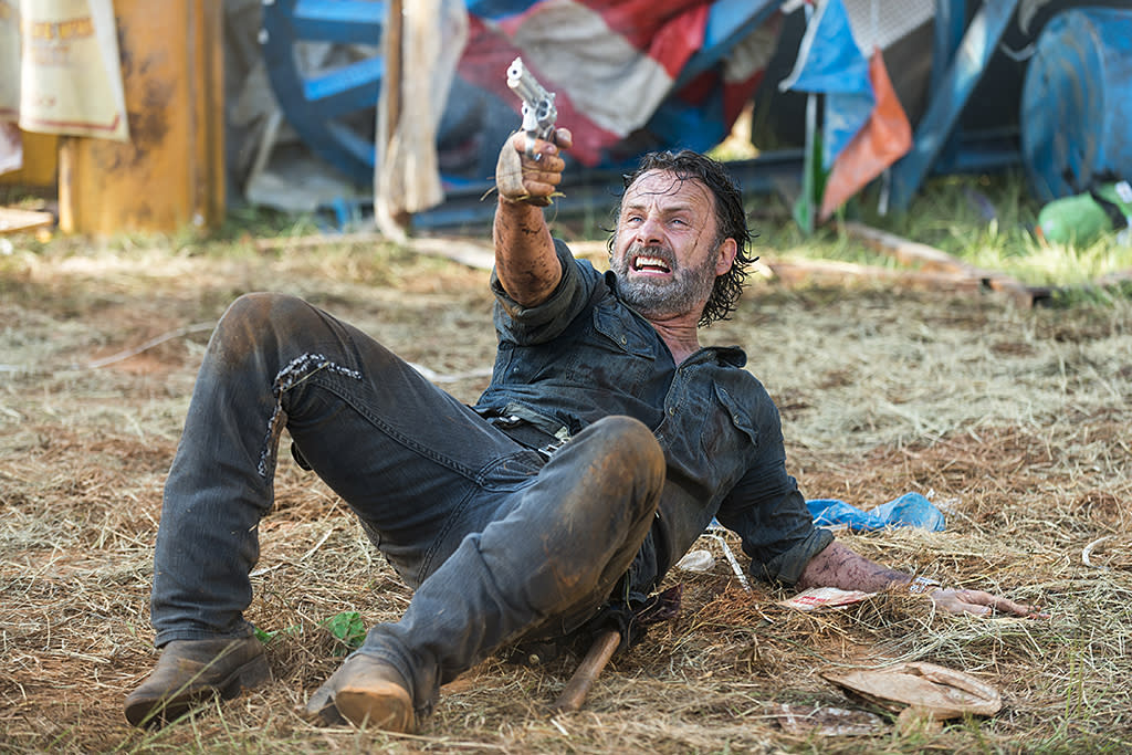<p>In the comics, Rick's hand is cut off by the Governor the first time they meet — a shocking and brutal introduction for the big bad of the prison storyline. But in the show, both of Rick's hands are intact. There was a red herring in season 6 when his hand got cut, but it seems unlikely that the show will ever follow the comics' lead in this instance.<br /><br />(Photo Credit: Gene Page/AMC) </p>