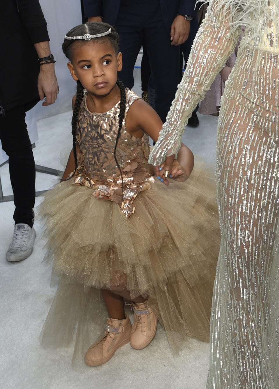 Blue Ivy in a dress from Mischka Aoki.