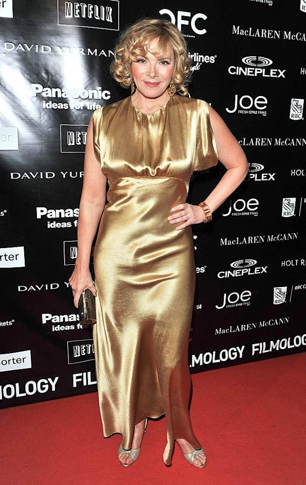 """Sex and the City 2"" was baaaaad, but the outfit worn by Kim Cattrall to this year's Canadian Film Centre Gala may be worse. Discuss. George Pimentel/<a href=""http://www.wireimage.com"" target=""new"">WireImage.com</a> - February 9, 2011"