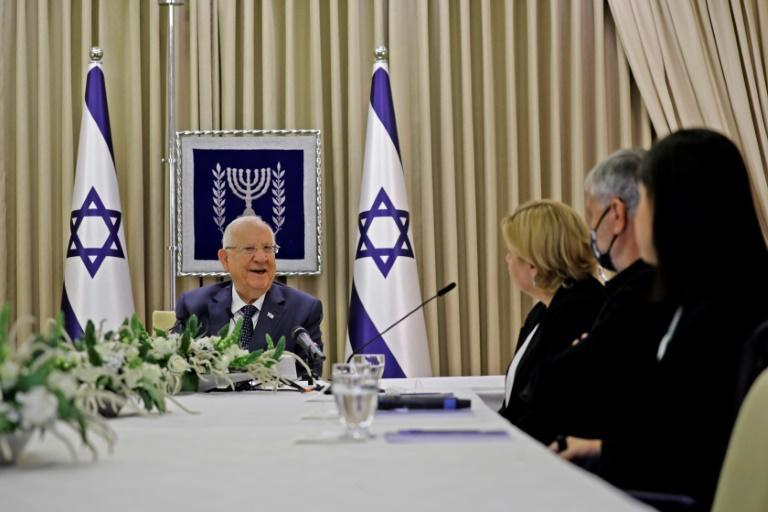 Israeli President Reuven Rivlin holds consultations with party representatives ahead of his selection of a candidate to try to form a majority government after last month's inconclusive election