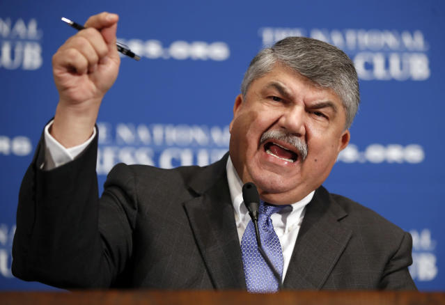 AFL-CIO president Richard Trumka speaks at the National Press Club in Washington on April 4, 2017. (Photo: Alex Brandon/AP)