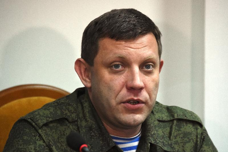 """Prime Minister of the Pro-Russian self proclamed """"Peoples Republic of Donetsk"""" Alexander Zakharchenko during a press conference in Donetsk on Febuary 2, 2015 (AFP Photo/Dominique Faget)"""