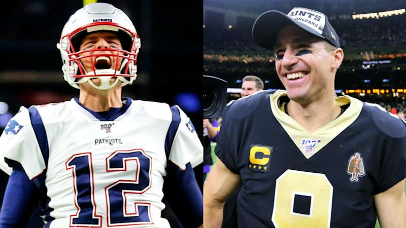 How close is Tom Brady to Drew Brees' NFL touchdown record?