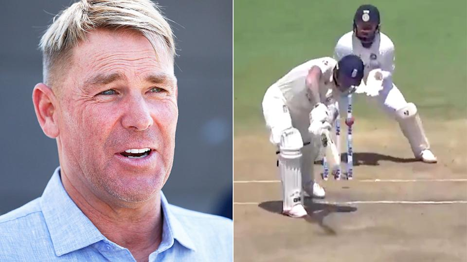 Seen here, Shane Warne has weighed in on the Chennai pitch controversy.