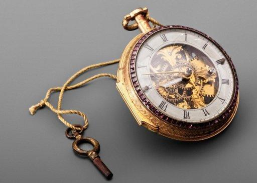 China's last emperor Puyi's pocket watch is on display in the National Palace Museum in Taipei