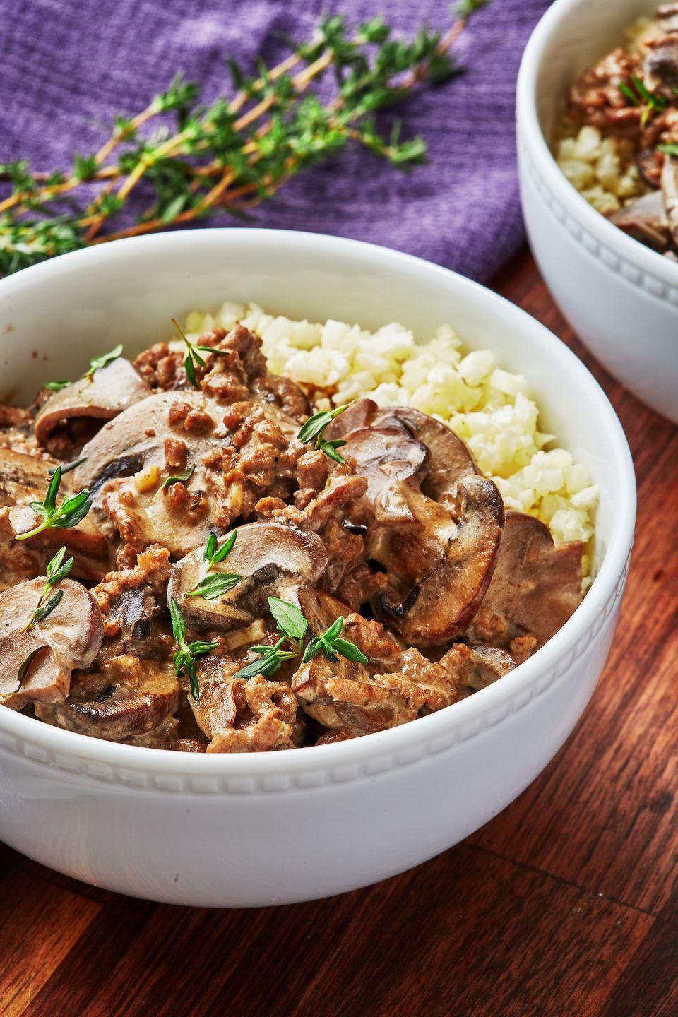 """<p>This sauce is amazingly rich and luscious.</p><p>Get the recipe from <a href=""""https://www.delish.com/cooking/recipe-ideas/a30707105/keto-beef-stroganoff-recipe/"""" rel=""""nofollow noopener"""" target=""""_blank"""" data-ylk=""""slk:Delish."""" class=""""link rapid-noclick-resp"""">Delish. </a></p>"""