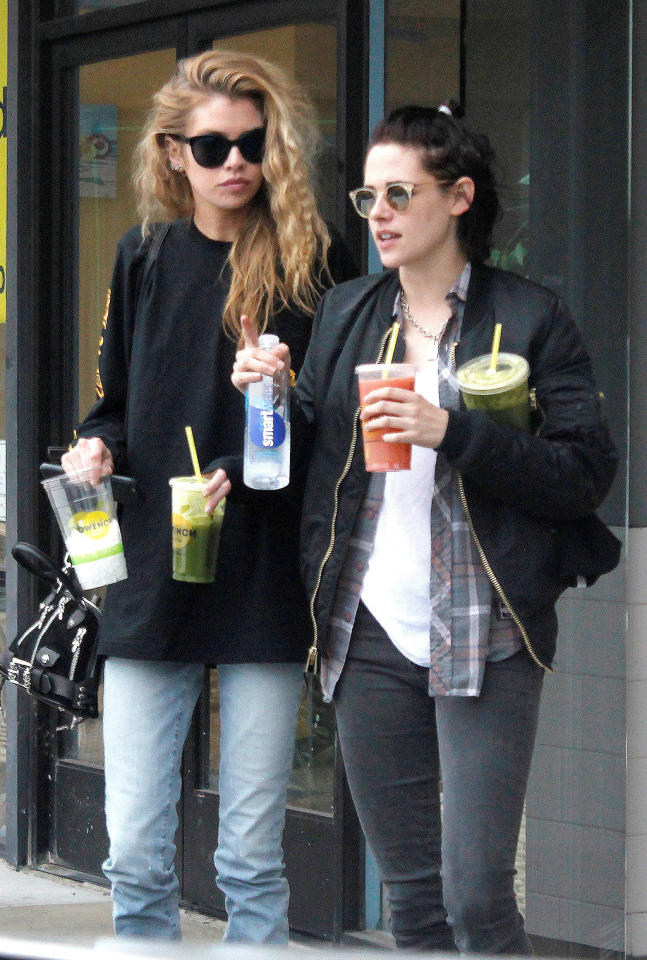 """<p>""""I mean, it's hard to talk about,"""" Stewart — who is currently dating Victoria's Secret model Stella Maxwell <i>—</i> explained. """"I don't want to seem presumptuous, because everyone has their own experience. The whole issue of sexuality is so gray. I'm just trying to acknowledge that fluidity, that grayness, which has always existed. But maybe only now are we allowed to start talking about it."""" (Photo: AKM-GSI) </p>"""
