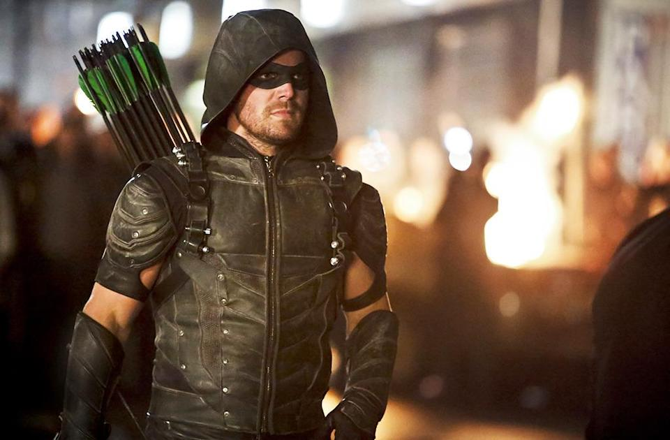 """<p><b>This Season's Theme: </b> """"Legacy,"""" says showrunner Wendy Mericle. """"All of the characters, but especially Oliver, will be thinking about what kind of legacy are they going to leave for the future."""" <br><br><b>Where We Left Off: </b> Oliver was just elected mayor, Diggle had just murdered his brother, and Felicity just dropped a nuclear weapon on Havenrock. <br><br><b>Coming Up: </b> Everyone will be dealing with the consequences of last season. Mericle says they will """"play the reality"""" of the nearly averted nuclear apocalypse. Oliver will have to deal, not only with a city devastated by three major terrorist attacks in four years, but a rising tide of vigilantes inspired by his actions – if not his ethics. <br><br><b>The Legion of Doom: </b> <i>Arrow</i> has always been the least cartoony of the Arrowverse shows, so what are Malcolm Merlyn and Damien Darhk doing as the core of this live-action revival of the old <i>Superfriends</i> villain cabal (which also features Captain Cold from <i>Legends of Tomorrow</i> and Reverse Flash from <i>The Flash</i>)? Mericle shrugs and says, """"Everyone wants a piece of John Barrowman and everyone wants a piece of Neil McDonough!"""" <i>– RC</i> <br><br>(Credit: Bettina Strauss/The CW)</p>"""
