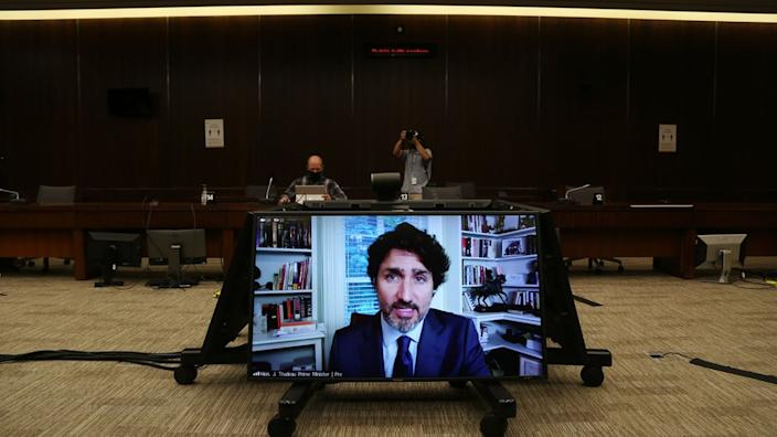 The prime minister testified via videoconference