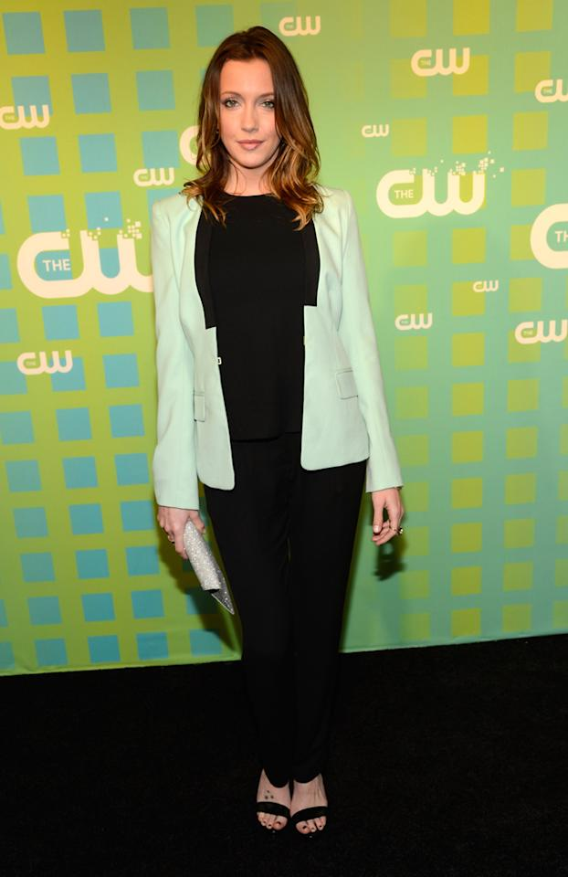 "Katie Cassidy (""Arrow"") attends The CW's 2012 Upfronts on May 17, 2012 in New York City."