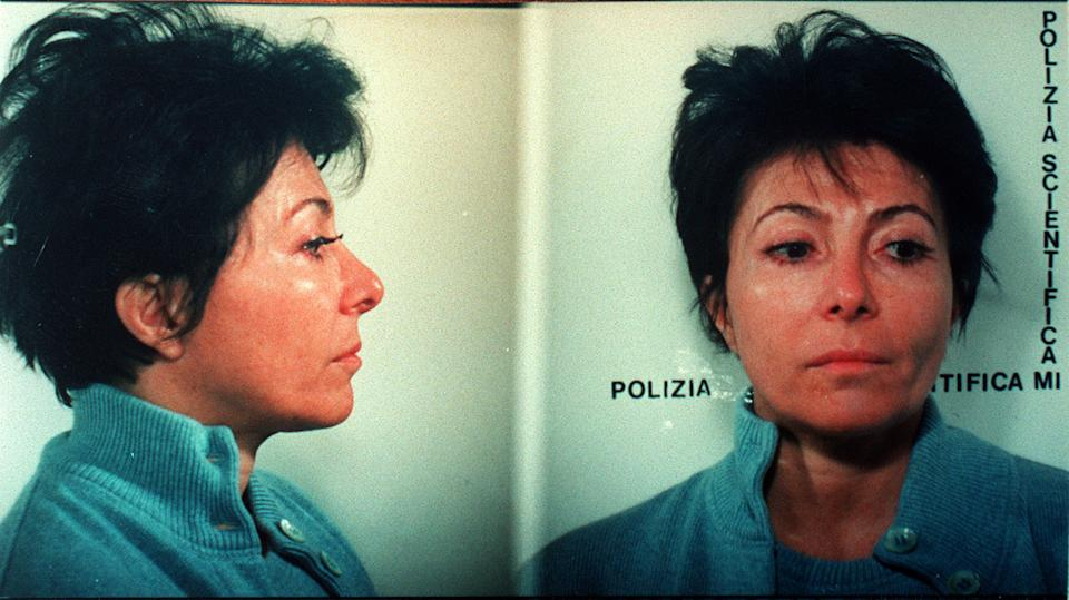 Police mugshot of Patrizia Reggiani Martinelli, 49, former wife of Maurizio Gucci, who was arrested in Milan, Friday, January 31, 1997, and charged with the killing of the fashion family scion in 1995. Maurizio Gucci was gunned down as he walked into his office building in central Milan on the morning of March 27, 1995. Martinelli was accused of organizing the killing , which was carried out by two men, who were arrested. (AP Photo/Stefano Cavicchi) MAGAZINES OUT