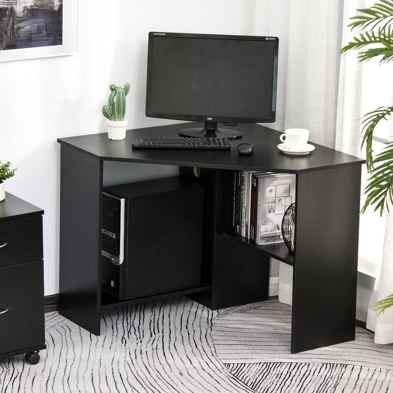 <p>Make use of every square inch of space with this handy <span>Ebern Designs Alenia Corner Desk</span> ($124).</p>