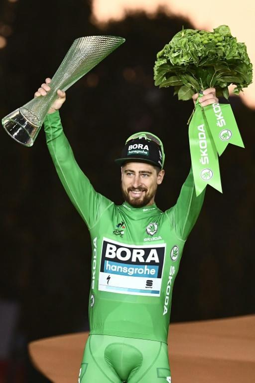 Peter Sagan can win a record fourth title Sunday (AFP Photo/Anne-Christine POUJOULAT )