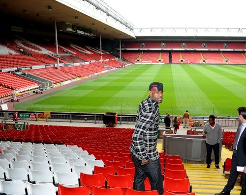 LeBron James at Liverpool FC