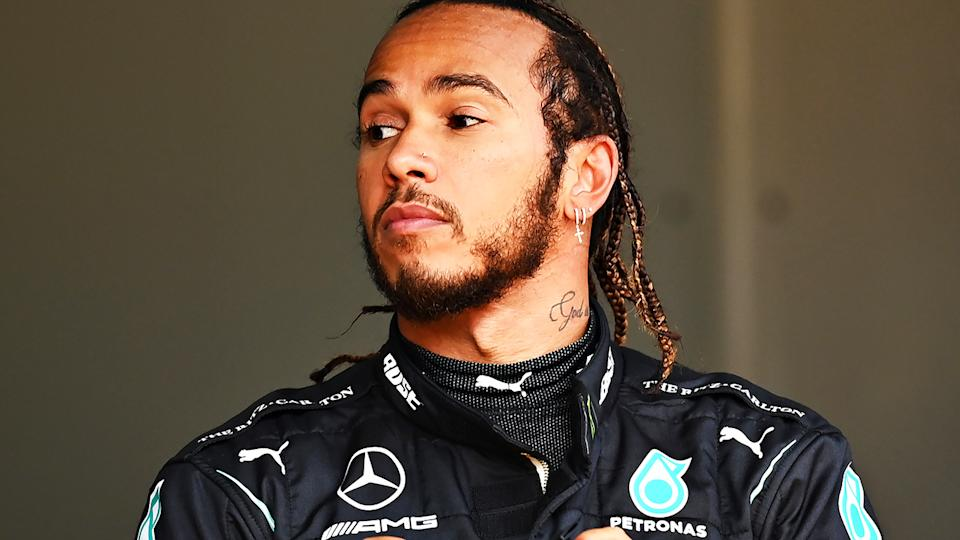 Mercedes driver Lewis Hamilton is pictured after winning the Styrian Grand Prix.