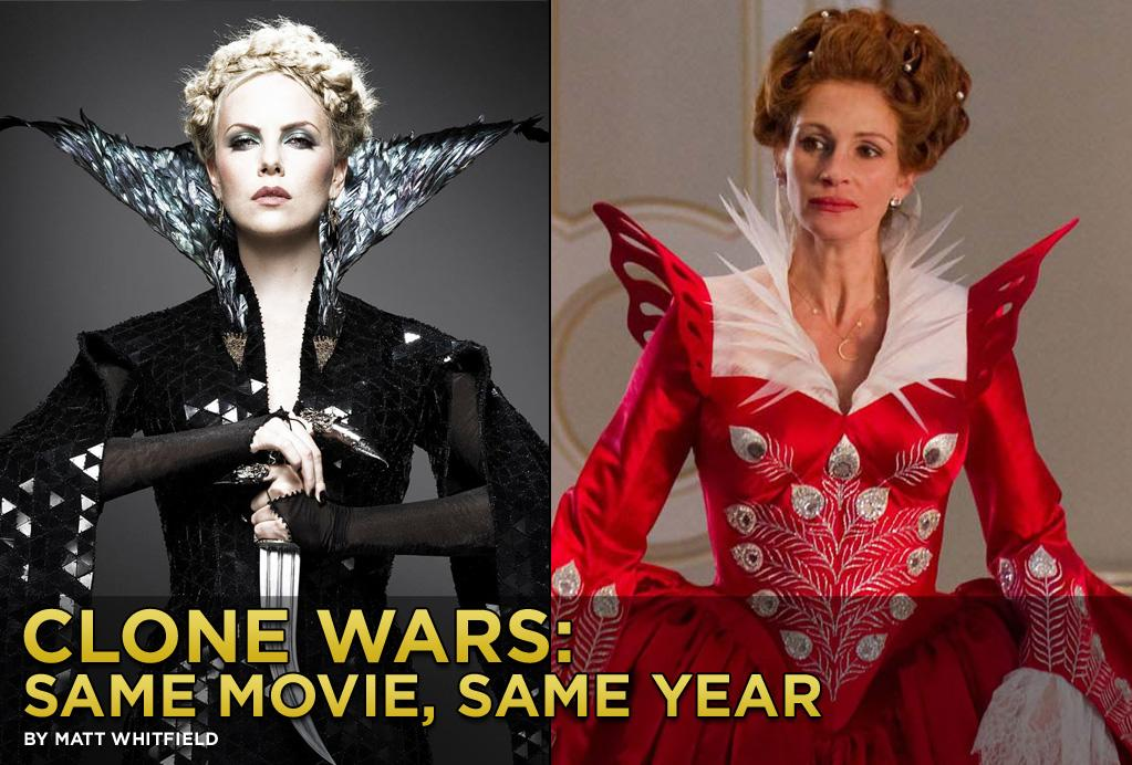 "Before you head to the theater this weekend to see Kristen Stewart do battle with Evil Queen Charlize Theron in <a target=""_blank"" href=""http://movies.yahoo.com/movie/snow-white-and-the-huntsman/"">""Snow White and the Huntsman""</a> (aka the dark, PG-13-rated version of <a target=""_blank"" href=""http://movies.yahoo.com/movie/mirror-mirror-2012/"">""Mirror Mirror""</a>), check out this slideshow featuring other pairs of shockingly similar movies released during the same year.<br><br>Follow <a target=""_blank"" href=""http://bit.ly/lifeontheMlist"">Matt Whitfield</a> on Twitter.<br>Follow <a target=""_blank"" href=""http://twitter.com/yahoomovies"">Yahoo! Movies</a> on Twitter."