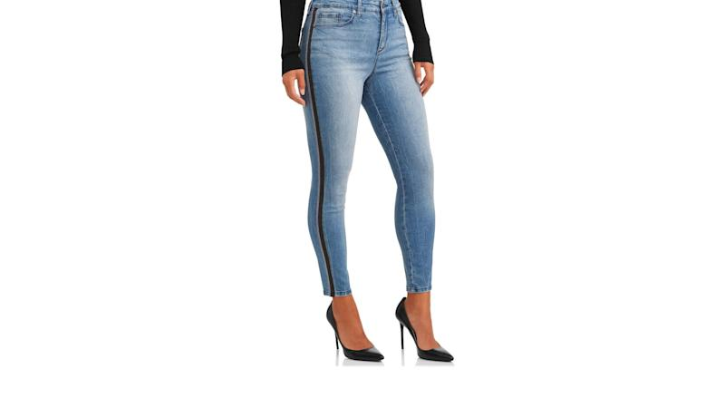 Rosa Curvy Lurex Side Stripe High Waist Ankle Jean. (Photo: Walmart)