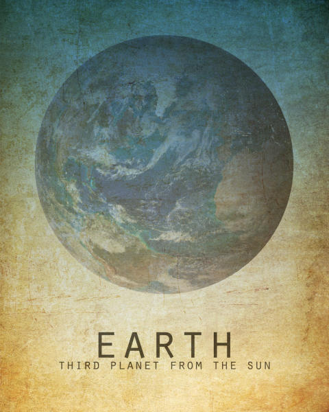 This undated image provided by Megan Lee Studio shows a print of Earth by artist, Megan Lee, available at www.etsy.com/shop/meganlee. (AP Photo/Megan Lee Studio)