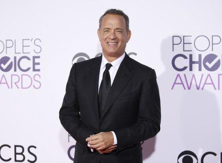 Actor Tom Hanks arrives at the People's Choice Awards 2017 in Los Angeles, California, U.S., January 18, 2017.  REUTERS/Danny Moloshok