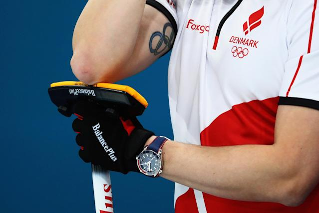 <p>Johnny Frederiksen – Danish curling (Getty images) </p>