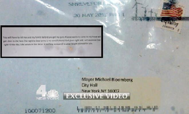The ricin-tainted letter mailed to New York City Mayor Michael Bloomberg.
