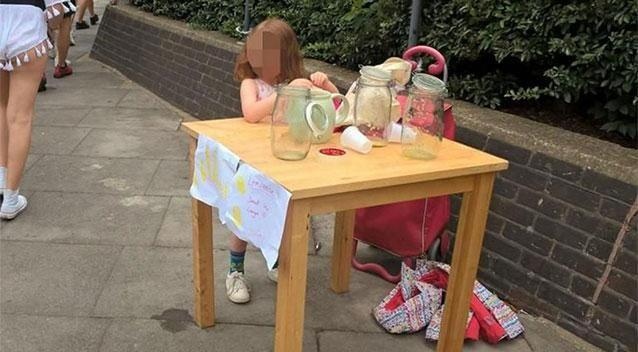 The little entrepreneur was left in tears after being hit with a fine. Photo: Andre Spicer
