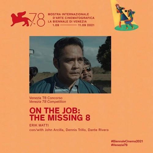'On the Job 2: The Missing 8' was the only Filipino movie nominated at the Festival