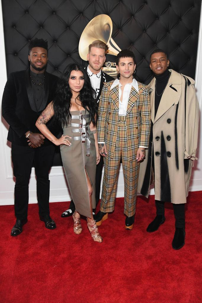 <p>Pentatonix attends the 61st annual Grammy Awards at Staples Center on Feb. 10, 2019, in Los Angeles. </p>