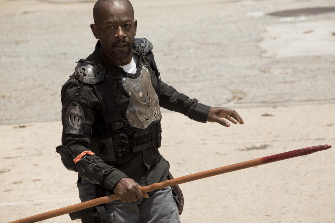 <p>Lennie James as Morgan Jones in <i>The Walking Dead</i> Season 8, Episode 1.<br />(Photo: Jackson Lee Davis/AMC) </p>