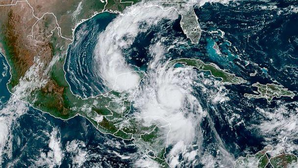 PHOTO: This RAMMB/NOAA satellite image shows Hurricane Delta moving northwest in the Caribbean on October 6, 2020. (RAMMB/NOAA/NESDIS/AFP via Getty Images)