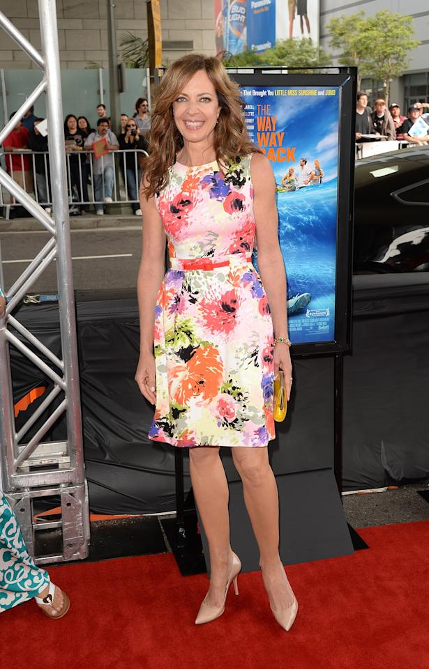 "LOS ANGELES, CA - JUNE 23: Actress Allison Janney attends the 2013 Los Angeles Film Festival premiere of the Fox Searchlight Pictures' ""The Way, Way Back"" held on June 23, 2013 in Los Angeles, California. (Photo by Jason Merritt/Getty Images)"