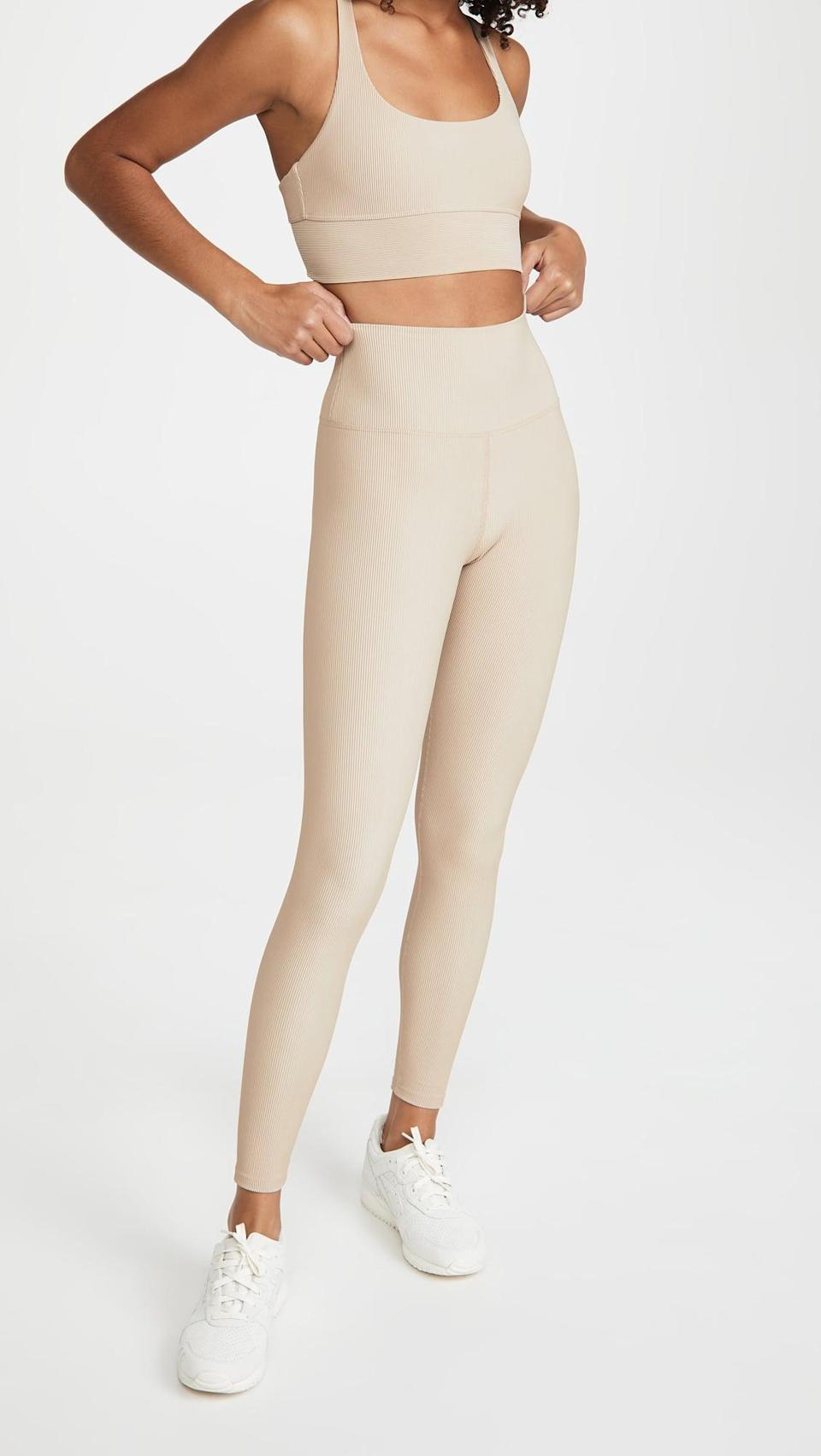 <p>These <span>Beach Riot Ribbed Ayla Leggings</span> ($84) are a great neutral.</p>