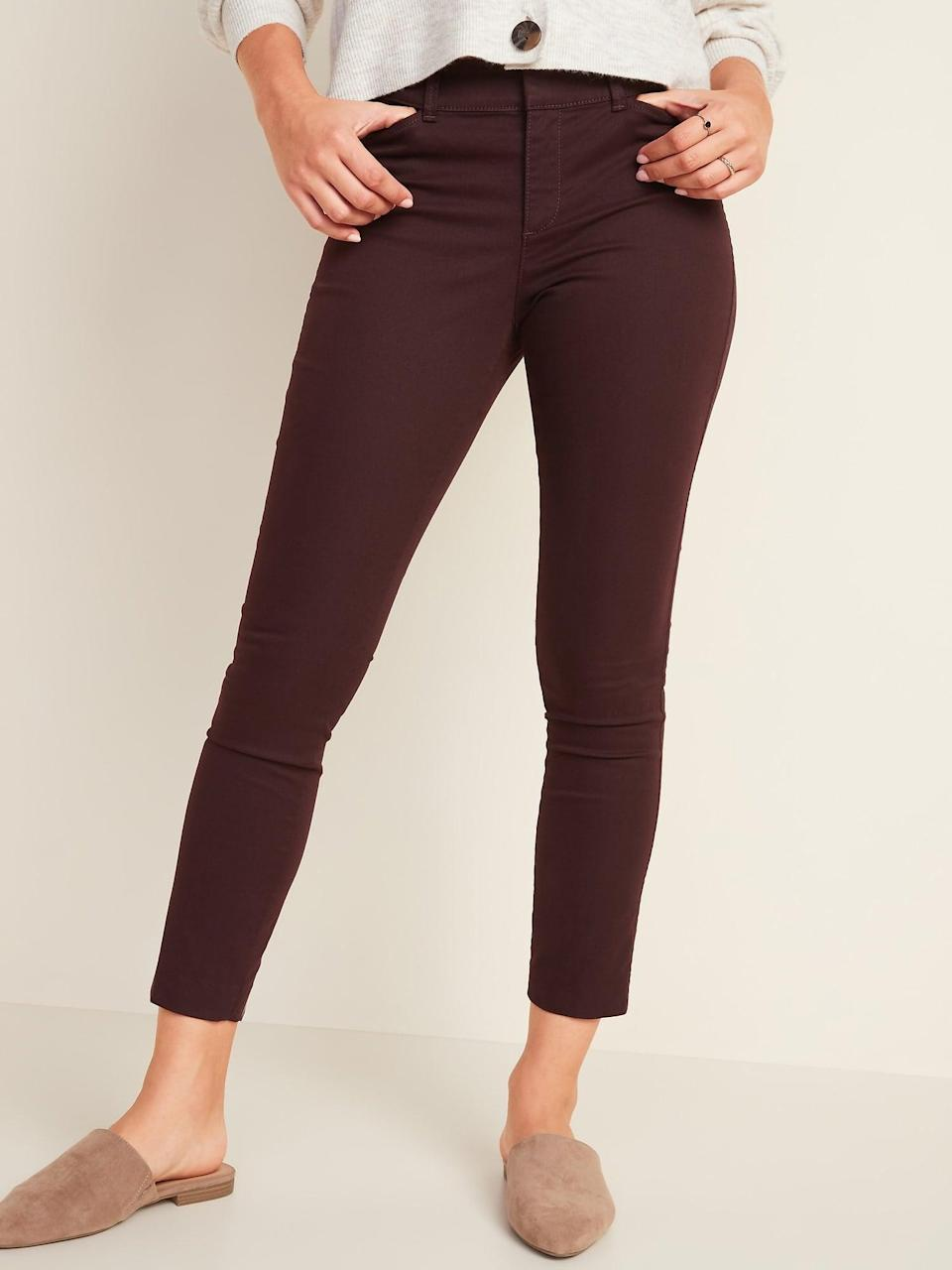 <p>These <span>Mid-Rise Pixie Ankle Chinos</span> ($30, originally $35) have a fitted flattering silhouette.</p>