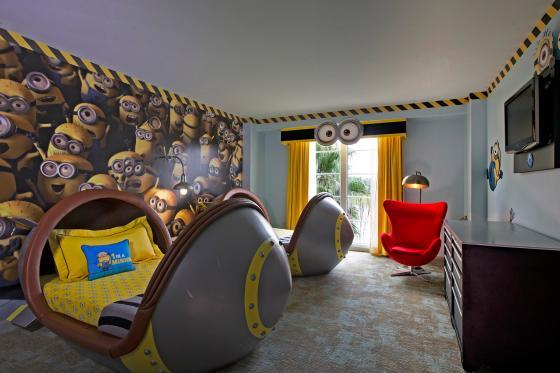 Despicable Me Suite at Universal Studios Orlando Loews Portofino Bay Hotel.