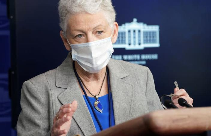 FILE PHOTO: McCarthy speaks about the climate at the White House in Washington