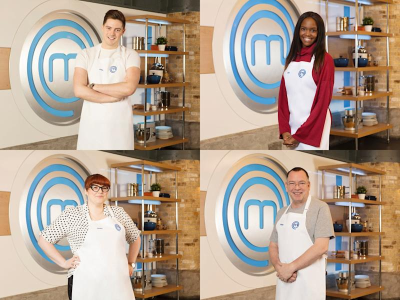 'Love Island' doctor Alex George, 'Strictly' dancer Oti Mabuse and 'EastEnders' actor Adam Woodyatt are just some of the famous names competing in 'Celebrity MasterChef 2019' (BBC)