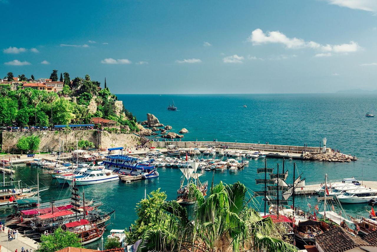 "<p>Searches for a week's break in Turkey are up by a whopping 79 per cent, which makes it the sixth most popular country for Brits to visit this year. Antalya (pictured) and Alanya have some of the best deals, with a week in a three-star hotel in Alanya in May <a rel=""nofollow"" href=""https://www.travelsupermarket.com/en-gb/holidays/results/5497d3cbaa00dc24a55efddc/528cc200e4b0ec1df538ae67/2018-04-30/7/?room=A2"">starting at £195pp.</a> Other resorts like Bodrum, Marmaris and Oludeniz are all featured in the top 20 cheapest all-inclusive resorts  for this year.</p>"