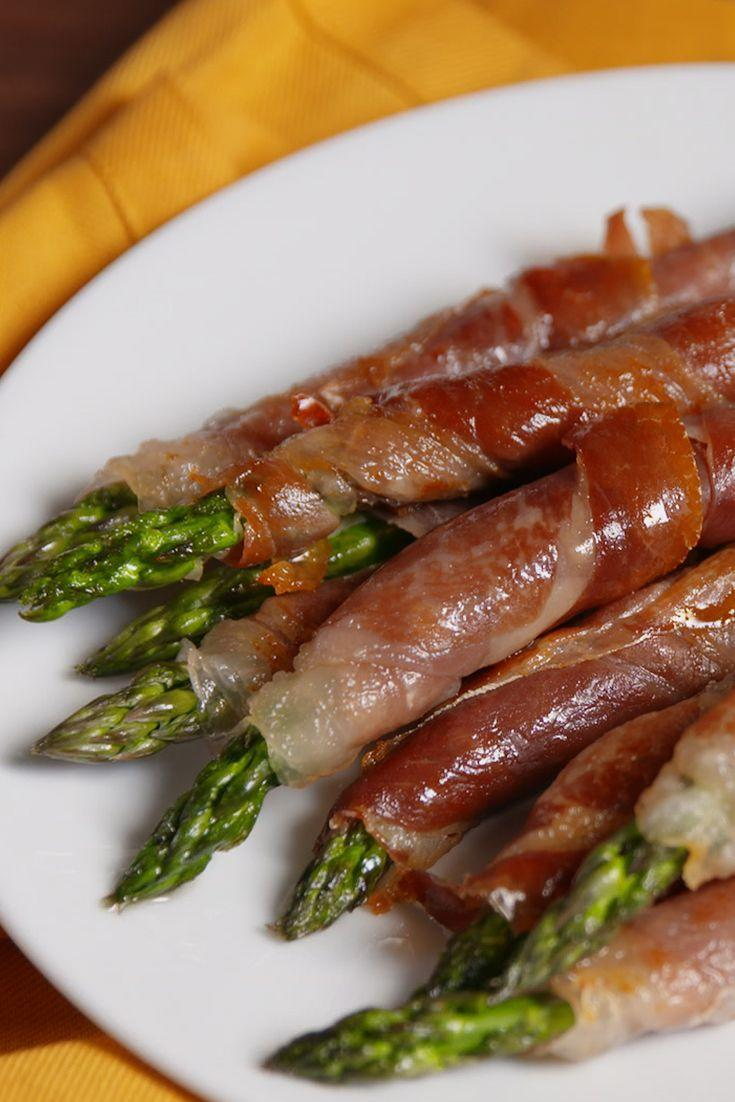 "<p>These prosciutto-wrapped asparagus spears are a guaranteed party hit.</p><p>Get the recipe from <a href=""https://www.delish.com/cooking/recipe-ideas/recipes/a50597/prosciutto-wrapped-asparagus-recipe/"" rel=""nofollow noopener"" target=""_blank"" data-ylk=""slk:Delish"" class=""link rapid-noclick-resp"">Delish</a>. </p>"