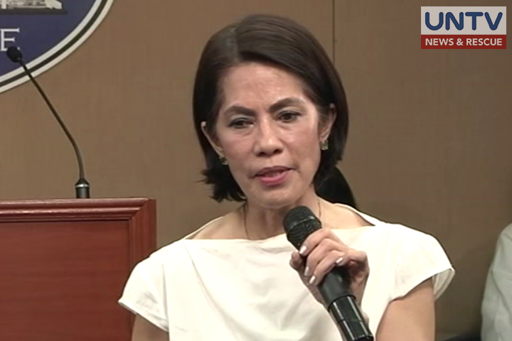 FILE PHOTO: DENR Sec. Gina Lopez