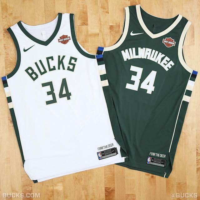 A look at the Milwaukee Bucks' new uniforms. (Photo courtesy of the Bucks)