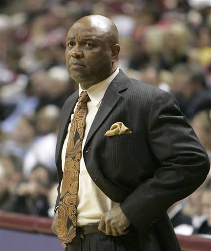 Florida State head coach Leonard Hamilton watches his players work against North Carolina in the second half of an NCAA college basketball game, Saturday, Jan. 14, 2012 in Tallahassee, Fla.(AP Photo/Steve Cannon)