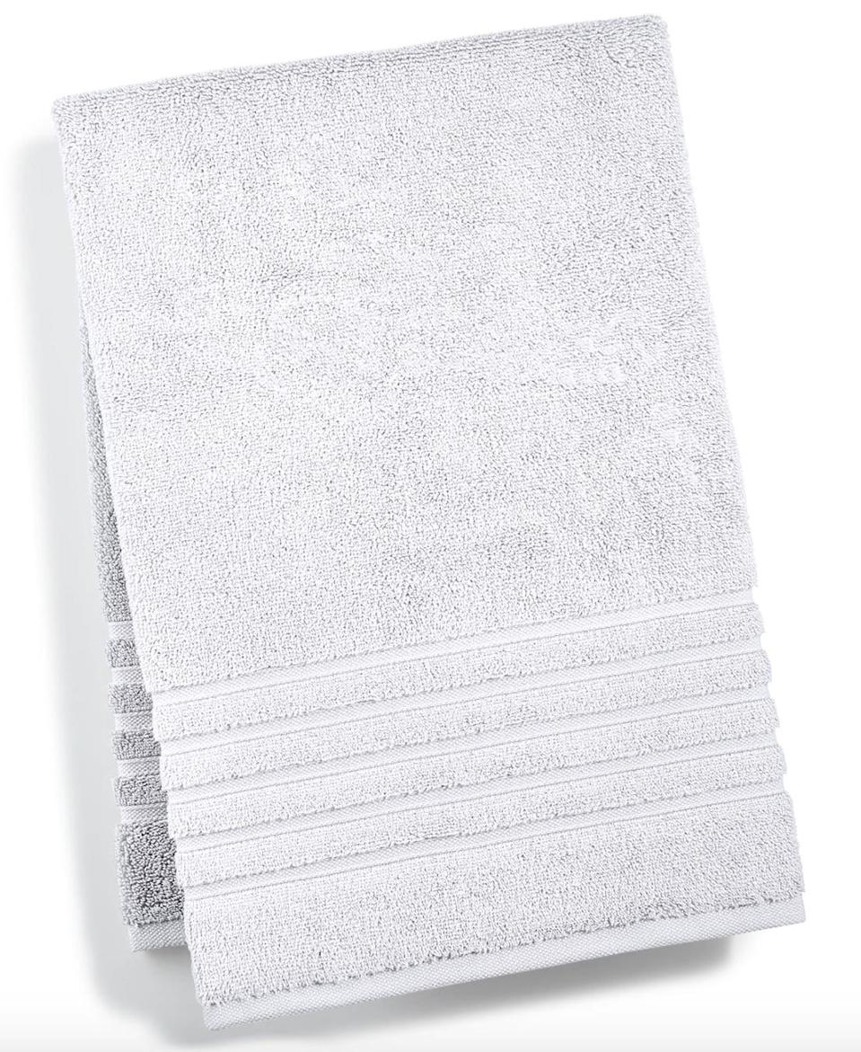 """<p>""""Full disclosure: I was first turned on to <span>Hotel Collection Ultimate Micro Cotton Towels</span> ($22, originally $36) through a PR pitch and had meager expectations, until I actually gave the free towel samples a try. Whoa. From the first wash cycle to the first time I used them, I immediately noticed how much softer, fluffier, and more absorbent they were than any of the other towels I owned."""" - Angela Elias, content director</p> <p>If you want to read more, here is the <a href=""""https://www.popsugar.com/home/Best-Bath-Towels-43601069"""" class=""""link rapid-noclick-resp"""" rel=""""nofollow noopener"""" target=""""_blank"""" data-ylk=""""slk:Hotel Collection Ultimate Micro Cotton Towels"""">Hotel Collection Ultimate Micro Cotton Towels</a> review.</p>"""