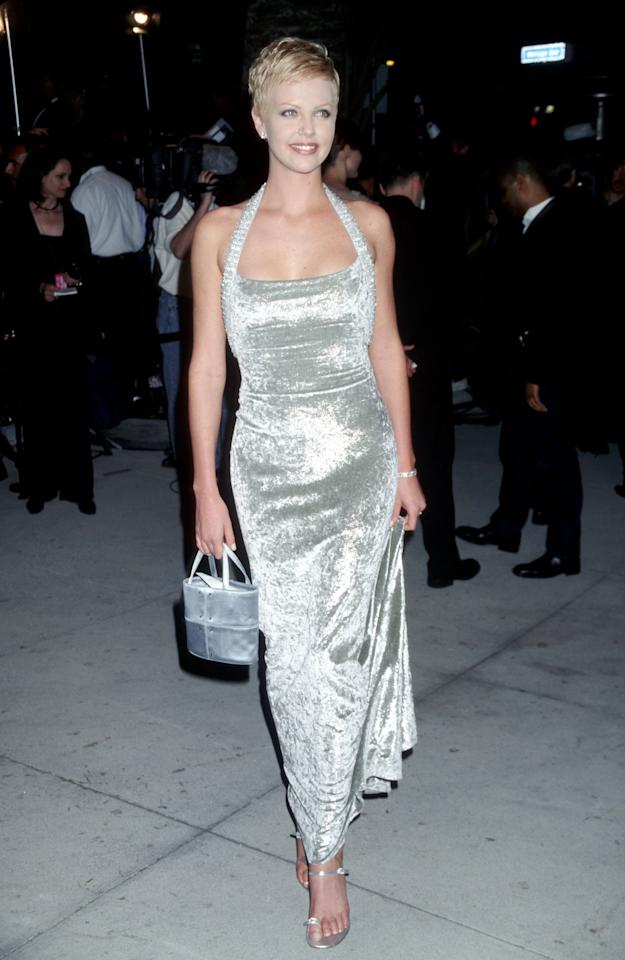 "<p>It's true: the actress has been <a href=""https://www.instyle.com/fashion/charlize-theron-best-metallic-dresses-outfits"">loving metallic designs</a> since 1998.</p>"