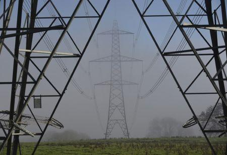 Fog begins to clear from electricity pylons near LLanddowror